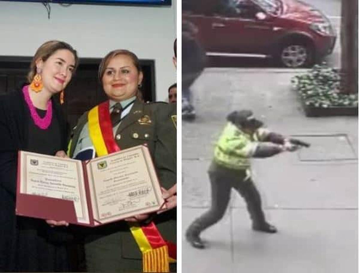 Condecoración a patrullera Ingrid Marina Jaramillo