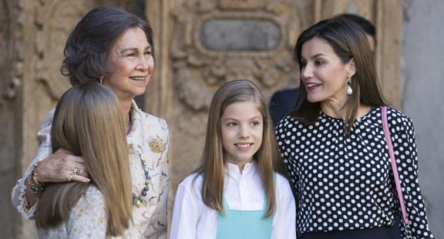 Princesa Sofía, reina Sofía, infanta Leonor y reina Leticia, en Palma de Mallorca