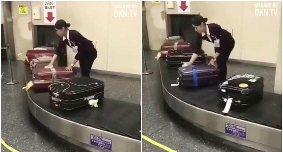 Limpian maletas en aeropuerto de Japón.
