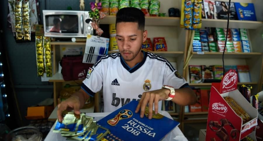 Venta del álbum del Mundial en Venezuela
