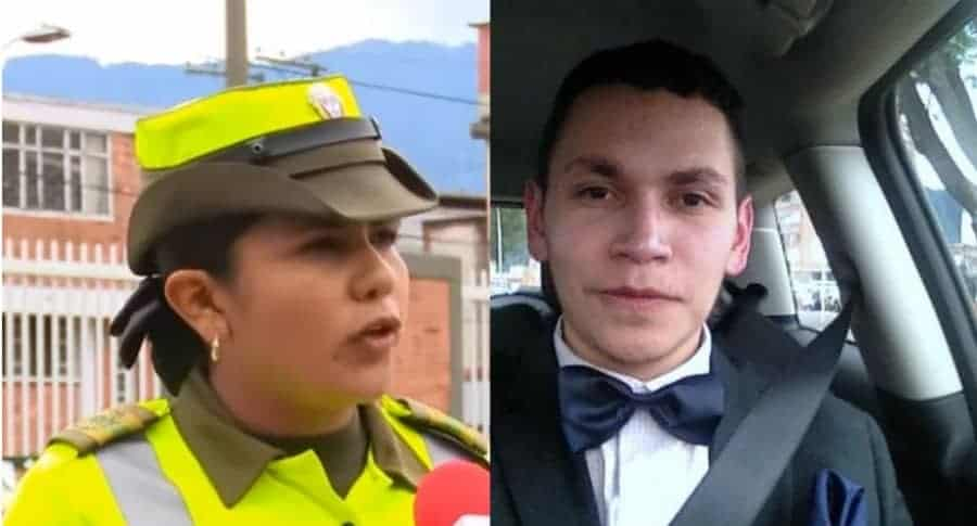 Patrullera Karen Granados y Hernando Zabaleta