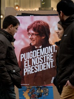 Cartel a favor de Carles Puigdemont