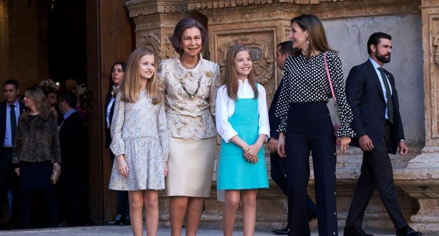 Familia real en Palma de Mallorca