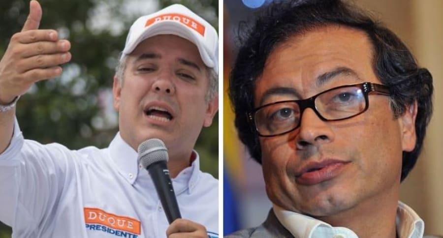 Iván Duque y Gustavo Petro, candidatos a la presiodencia de Colombia