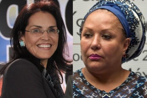 Viviane Morales y Piedad Córdoba