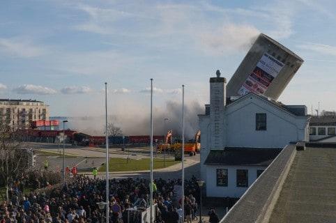 Demolición de depósito en Dinamarca