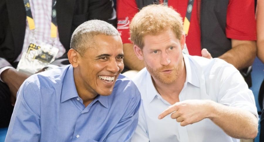 Barack Obama y el príncipe Harry, en 2017
