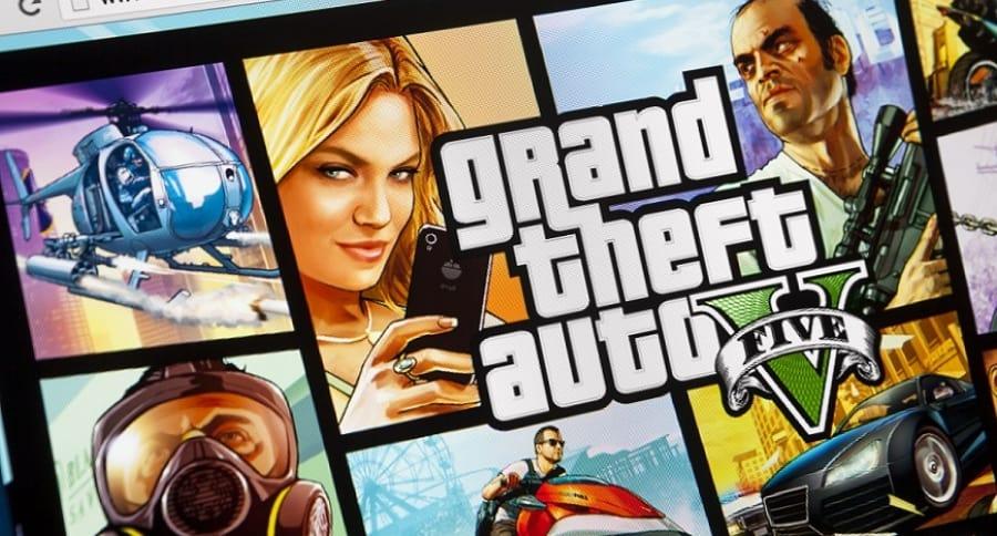 Grand Theft Auto 5 on iMac screen
