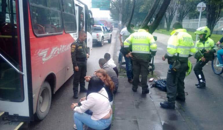 Atracadores de bus público capturados en flagrancia