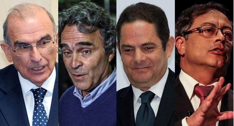 Humberto de la Calle, Sergio Fajardo, Germán Vargas Lleras y Gustavo Petro