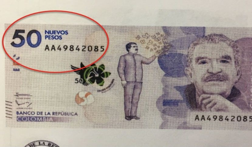 Nuevos pesos colombianos