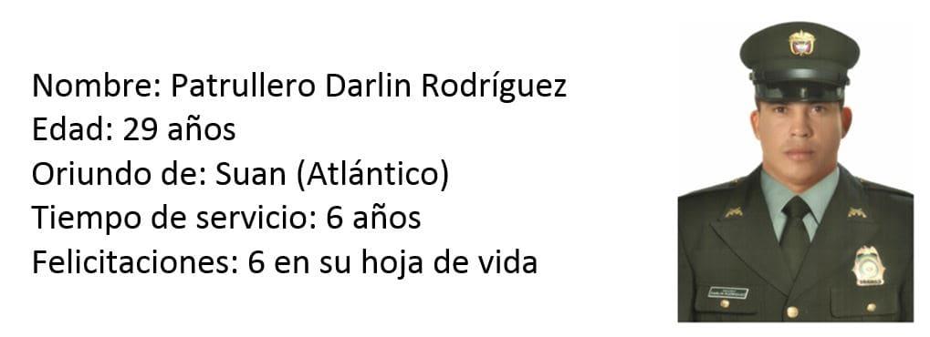 Patrullero Darlin Rodríguez