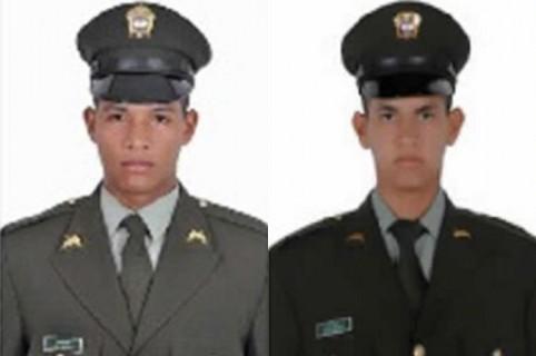 Patrulleros Jorge Pacheco Salcedo y José David Pérez Hernández