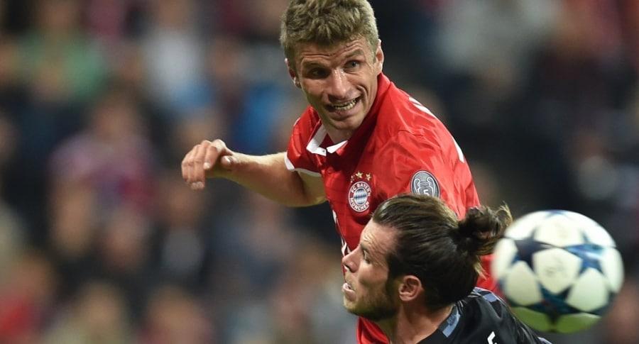 Thomas Müller, delantero de Bayern Múnich ante el Real Madrid
