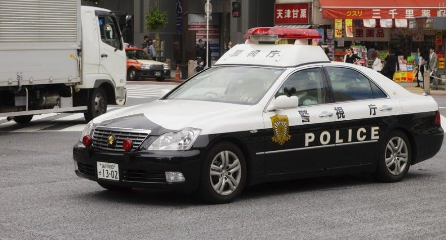 Policía en Tokio, Japón