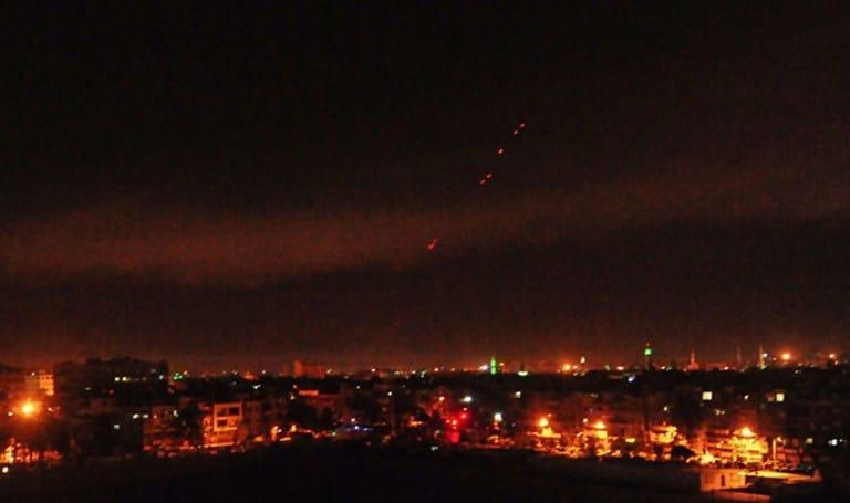Bombardeo aliado a Siria