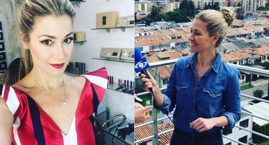 Pilar Schmitt, presentadora.