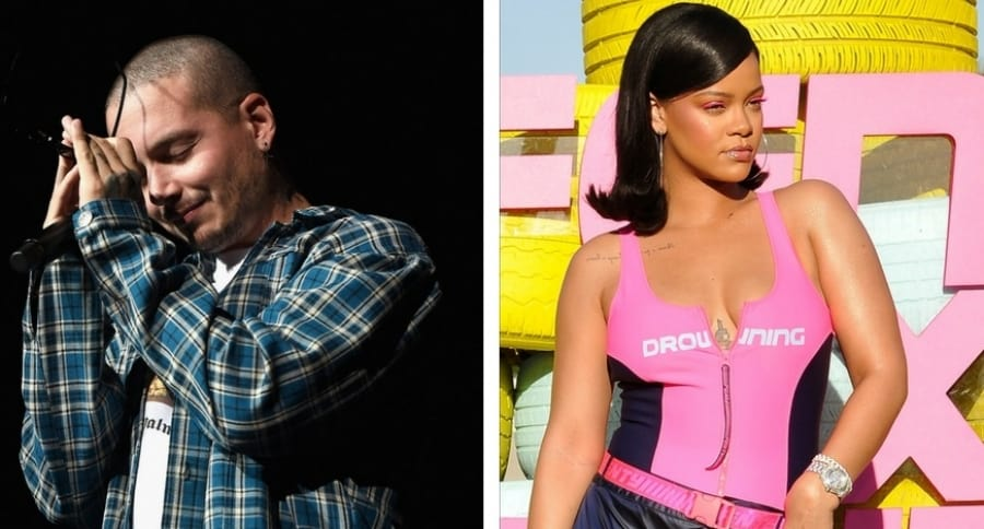 J Balvin y Rihanna