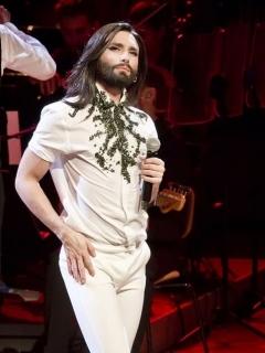 'Conchita Wurst', 'la cantante barbuda'.