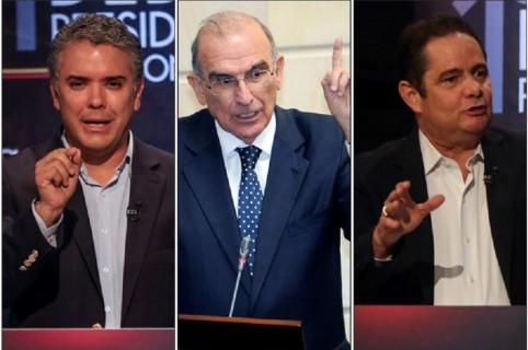 Iván Duque, Humberto de la Calle y Germán Vargas Lleras