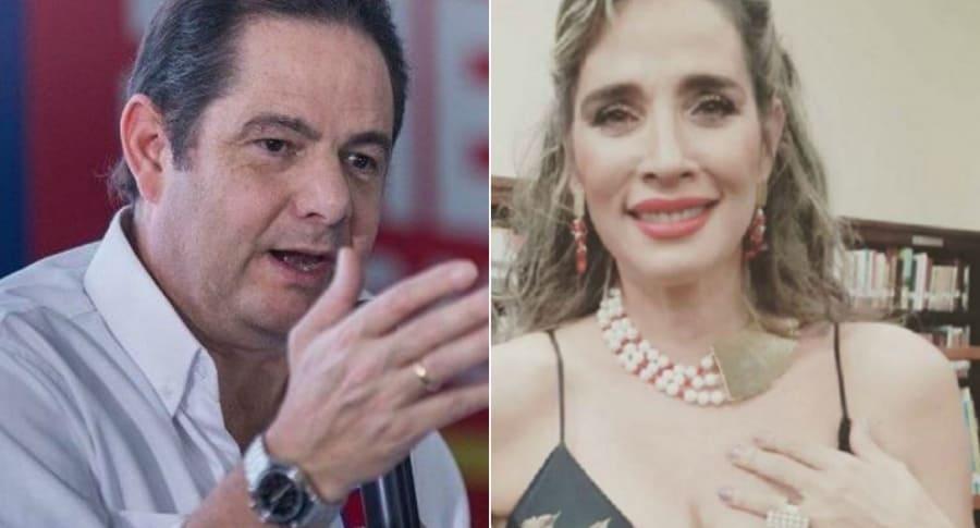 Germán Vargas Lleras y Luly Bossa