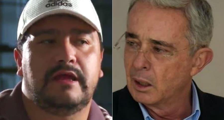 Carlos Areiza y Álvaro Uribe