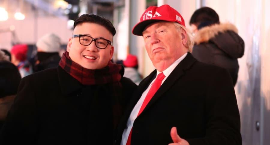 Imitaciones de Kim Jong-un y Donald Trump