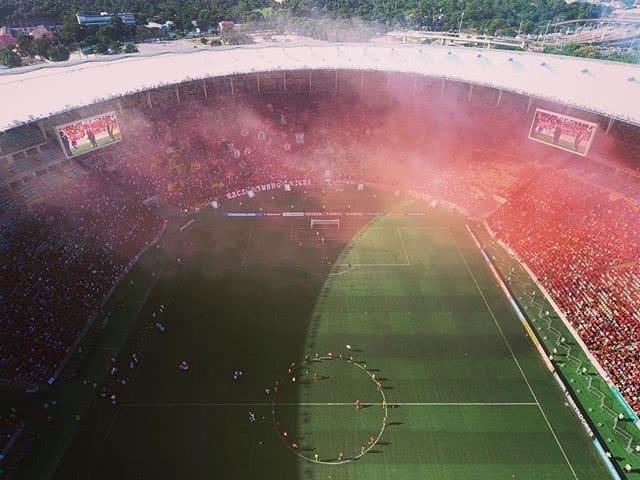 Hinchada de Flamengo en el Maracanã