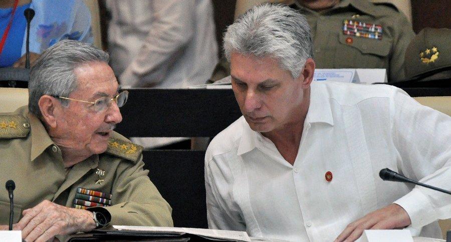 Raúl Castro y Miguel Díaz-Canel Bermúdez