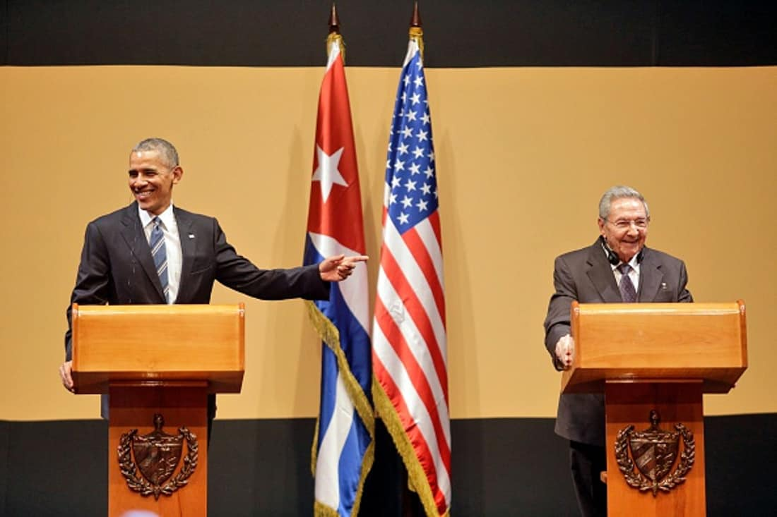 Raúl Castro y Obama