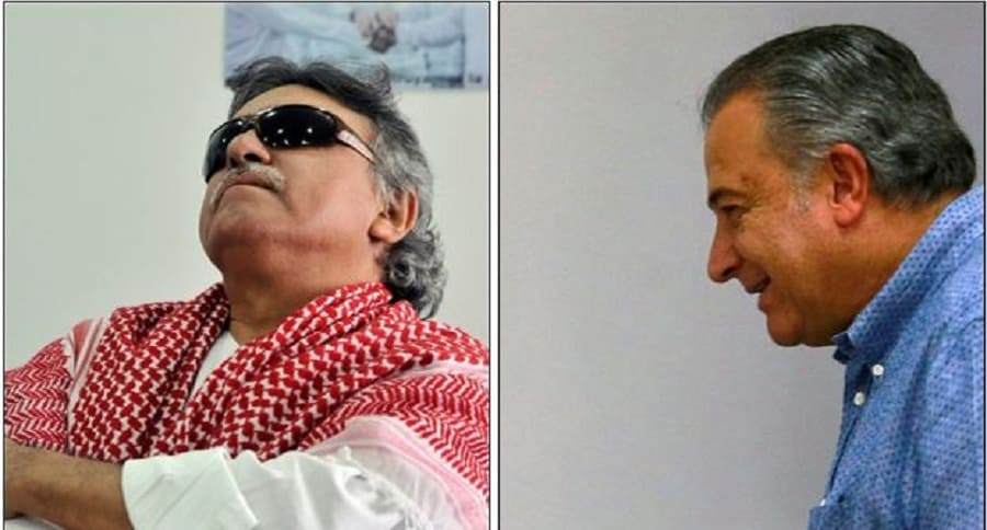 'Jesús Santrich' y Óscar Naranjo