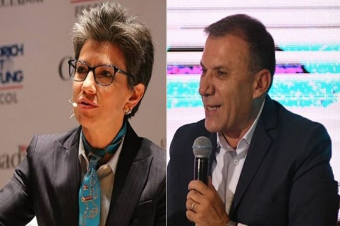 Claudia López y Roy Barreras