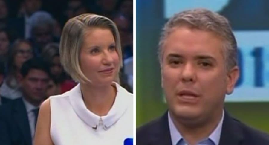 Claudia Gurisatti e Iván Duque