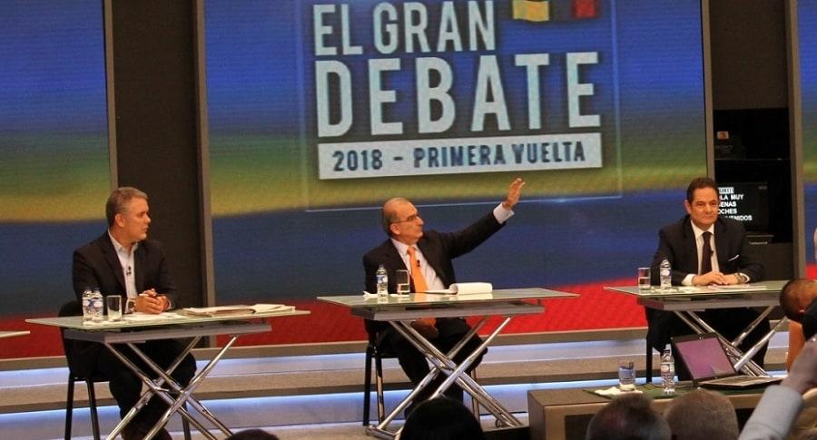 Iván Duque, Humberto de la Calle y Germán Vargas Lleras, candidatos a la presidencia.
