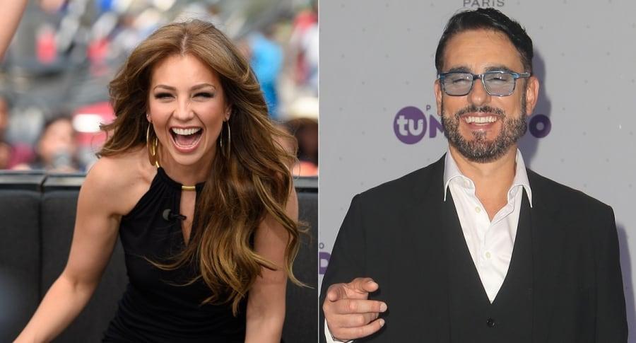 Thalía, cantante, y Miguel Varoni, actor.