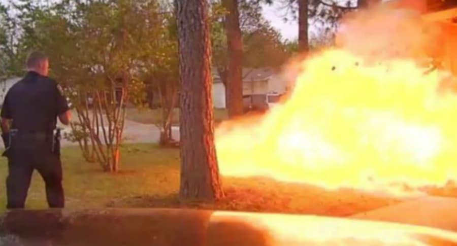 Casa explota en Texas.
