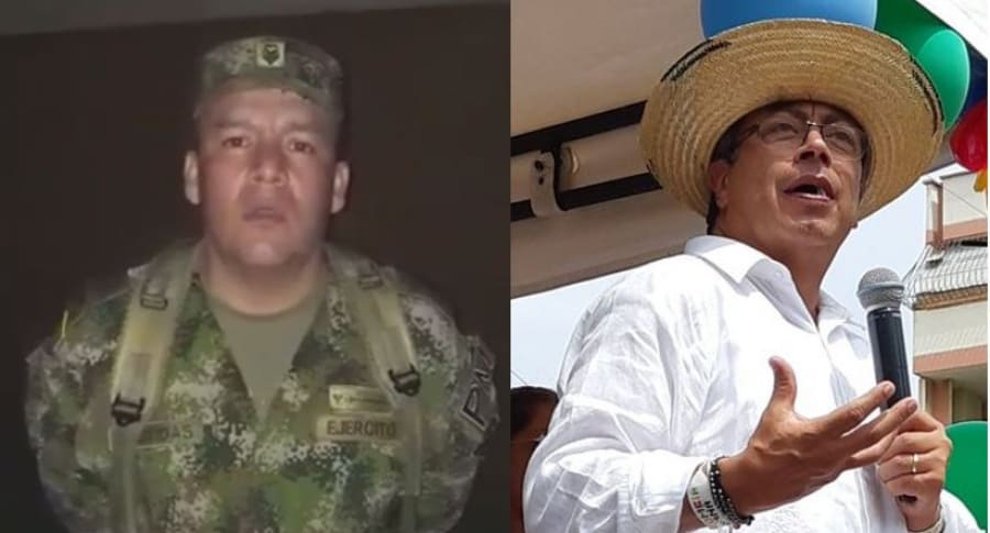 Sargento Ricardo Bastidas y Gustavo Petro