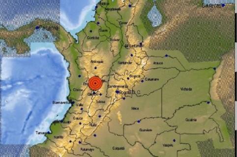 Mapa de la región central de Colombia