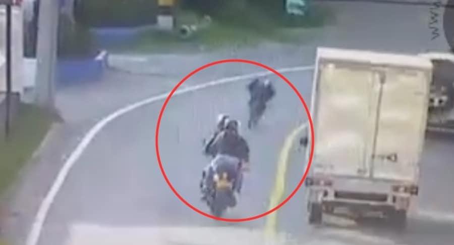 Accidente ciclista y motociclista