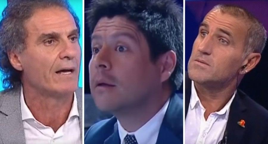 Óscar Ruggeri, José Amado y Raúl Cacini