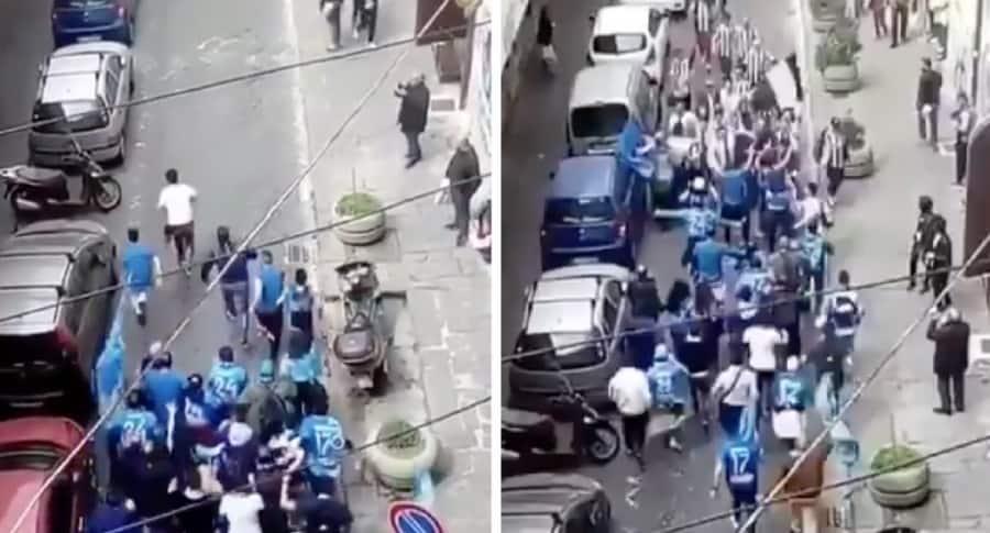 Hinchas de Juventus y Napoli