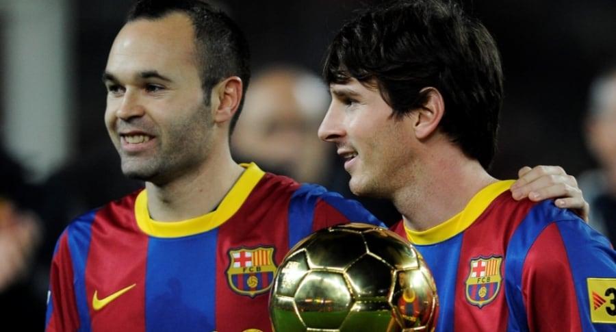 Andrés Iniesta y Lionel Messi