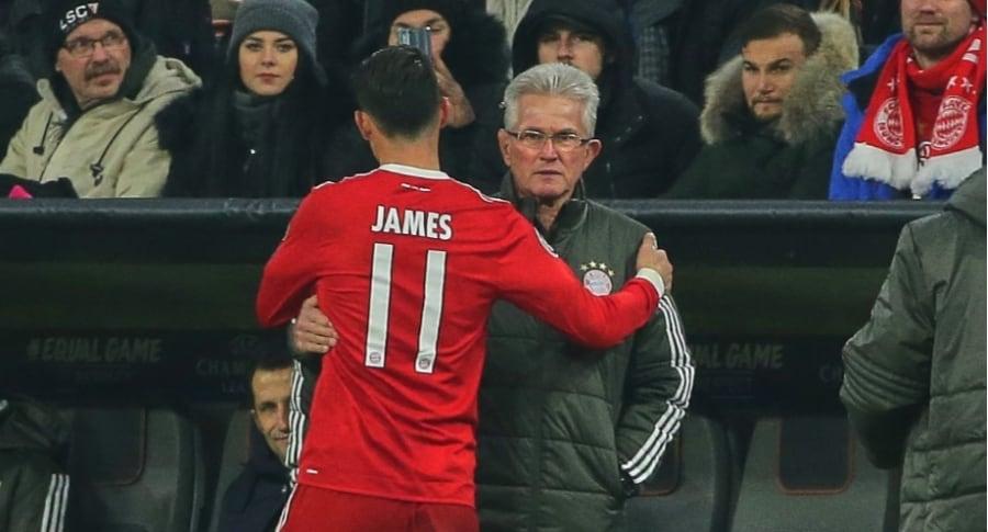James Rodríguez y Jupp Heynckes