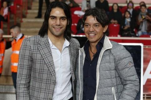 Falcao García y Marcelo Gallardo