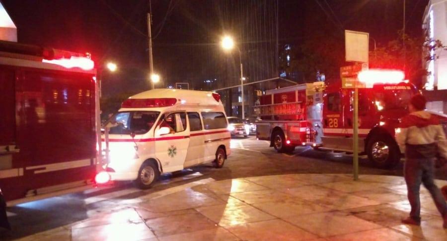 Lugar del ataque en Lima