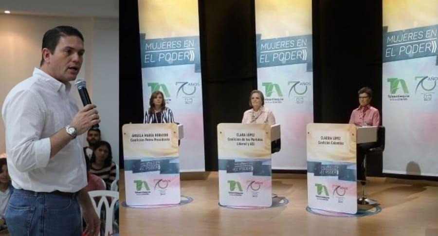Juan Carlos Pinzón, Ángela Robledo, Clara López y Claudia López
