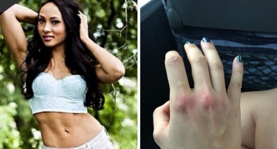 Mujer que golpeó a hombre