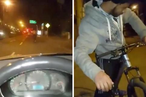 Taxista y ciclista borracho