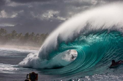 Olas en Hawái