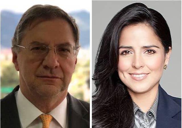 Darío Montenegro, gerente de Canal Capital, y Claudia Palacios, periodista